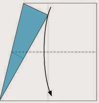 Bước 3: Gấp đôi tờ giấy theo chiều từ trên xuống dưới.