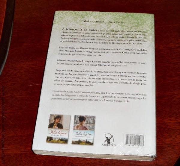 Resenha, livro, O visconde que me amava, Julia Quinn, Arqueiro, trechos, quotes, sinopse, capa, resumo, romance, romance de época, contracapa
