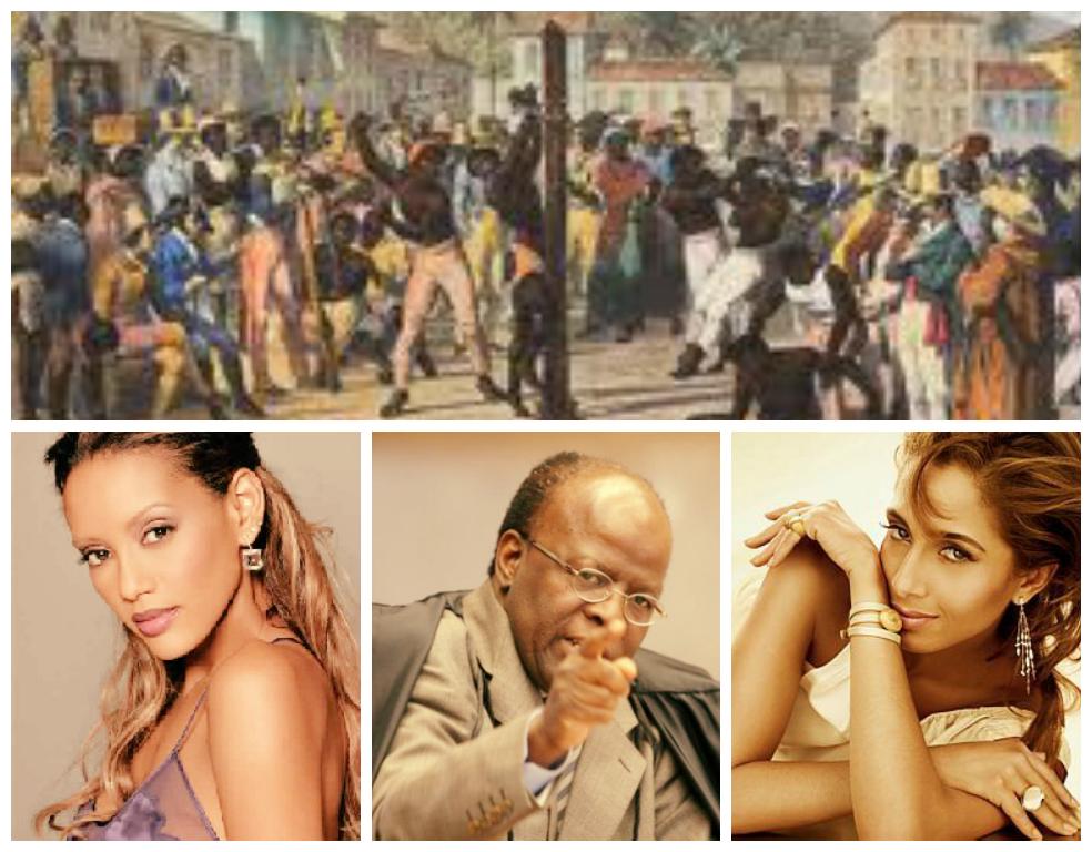 Fotomontagem: negros de ontem e de hoje