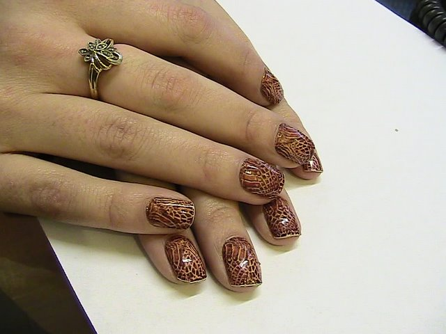 Brown and gold nail art ideas : Beauty best nail art minx nails designs hot trend for