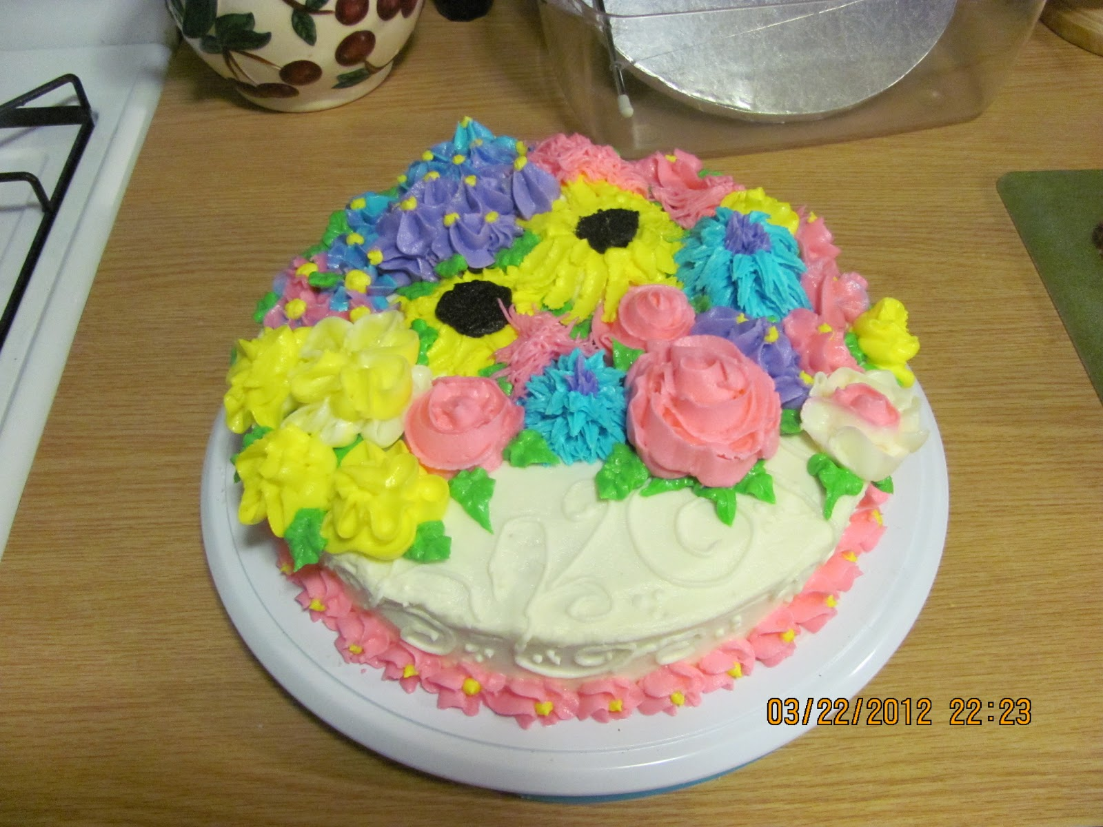 Batter Up Spring Flower Cake