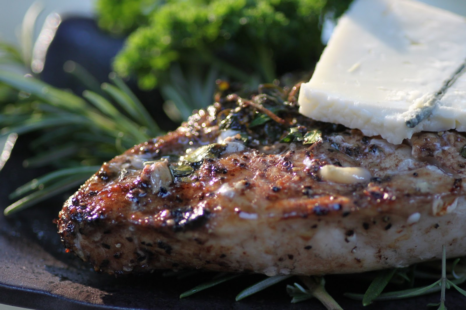 ... the Feast:: {Weeknight Meals} Herbed Balsamic Chicken with Blue Cheese