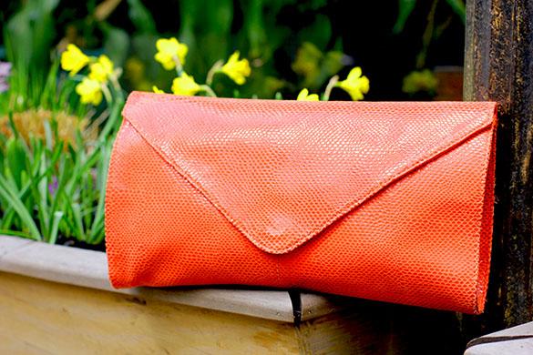 Kookai Coral Envelope Clutch