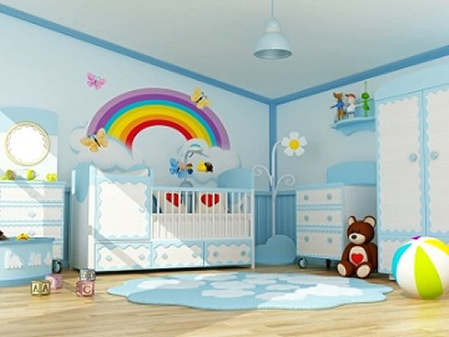 Rainbow Theme Bedrooms   Rainbow Bedroom Decorating Ideas   Rainbow Decor    Rainbow Wall Murals   Part 34