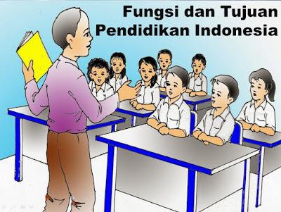 Fungsi dan Tujuan Pendidikan Indonesia