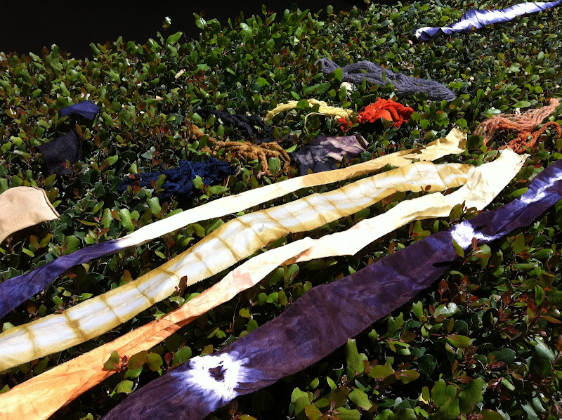 drying your fibers and fabrics after their dye bath on the hedges title=