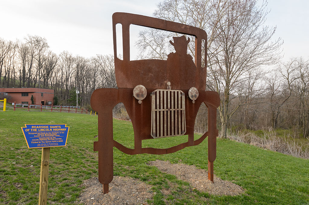 Packard Roadside Giant of the Lincoln Highway Sculpture