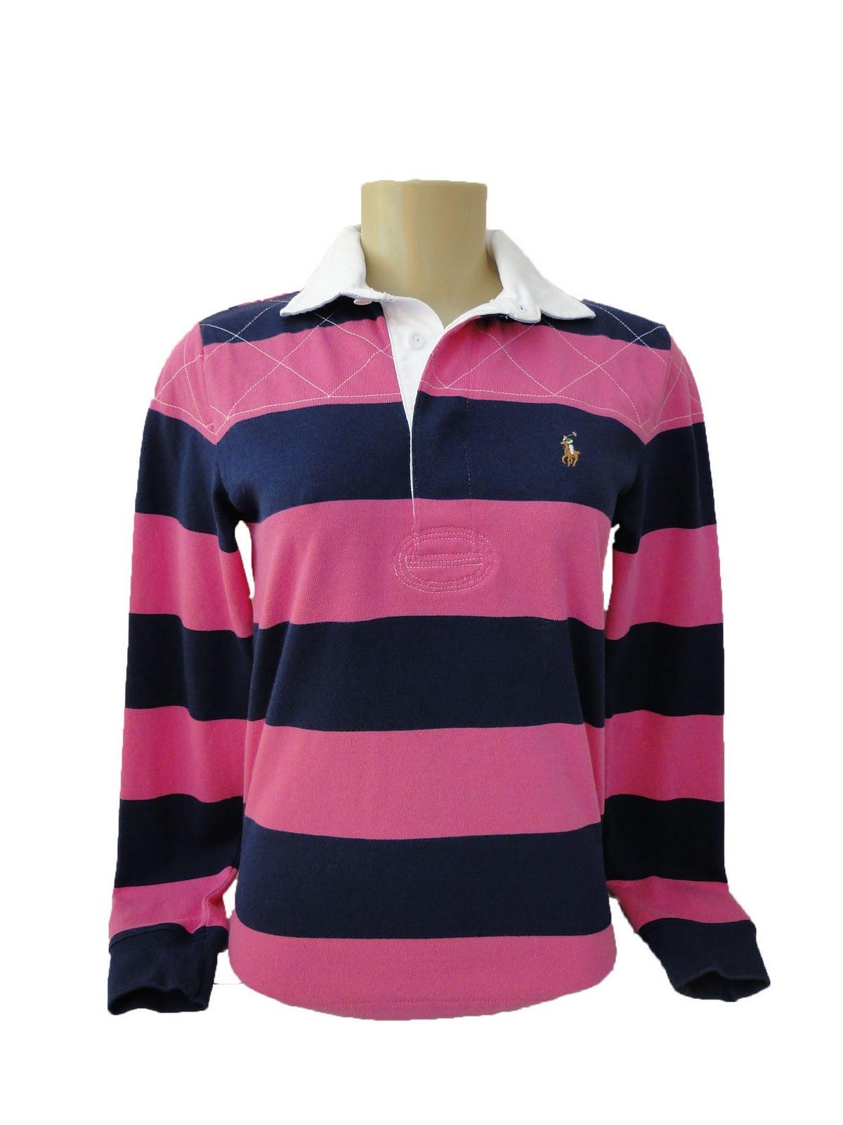 Blusa polo feminina Polo Ralph Lauren. Cor  Rosa com listras ... 2887db5ecceb1