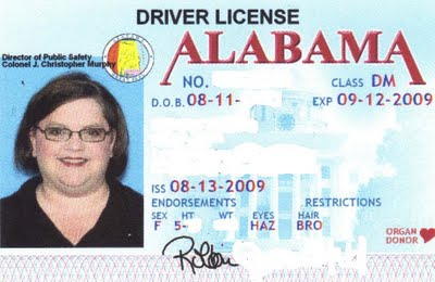 alabama drivers license test cost