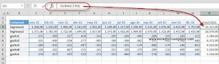 Sumar omitiendo las columnas ocultas en Excel.