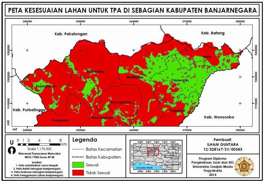 Contoh Analisis Spasial untuk Pemetaan Kesesuaian Lahan www.guntara.com