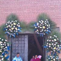 exterior de la iglesia san jeronimo durante el 12 de dicimbre en Iramuco