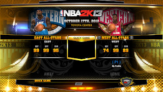 NBA 2K13 PC East vs West All-Star Quick Game Unlocked