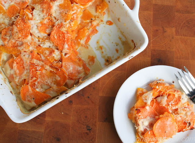 Sweet Potato and Butternut Squash Gratin
