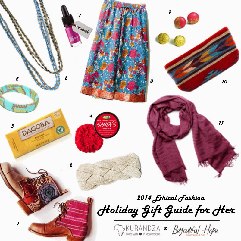 Ethical Fashion holiday guide, gifts that give back, social good
