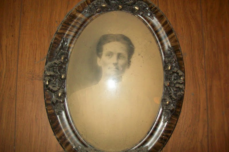 antique oval picture frames with bubble glass made of tiger wood