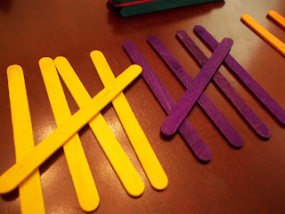 craft stick tally marks
