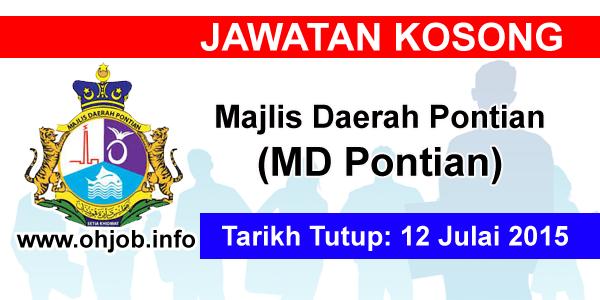 Jawatan Kerja Kosong Majlis Daerah Pontian (MDPontian) logo www.ohjob.info julai 2015