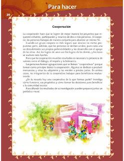 Apoyo Primaria Formación Cívica y Ética 4to grado Bloque I lección 3 Para hacer