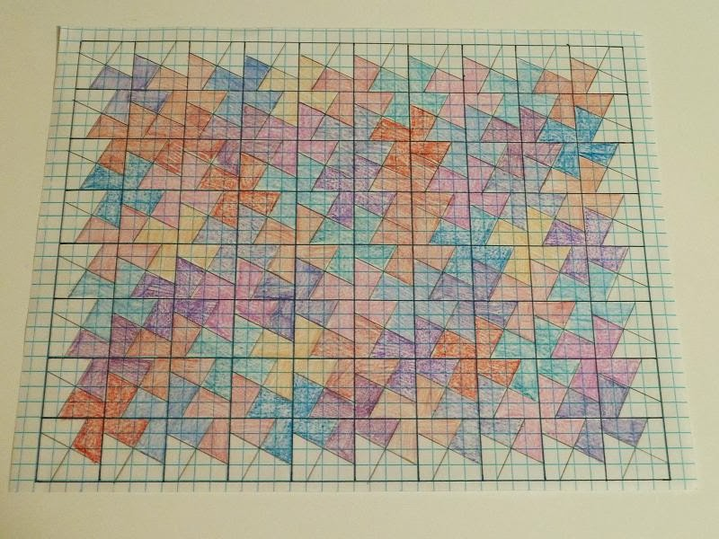 Quilt Patterns On Graph Paper : Quilt Kisses: Twister in Progress