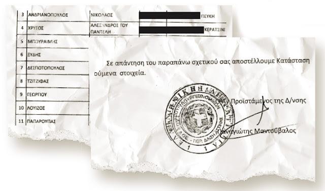 Εμπλέκει και τον Δήμαρχο Φυλής κ. Δ. Μπουραϊμη, για παράνομο πλουτισμό και φοροδιαφυγή, νέο δημοσίευμα του ΕΘΝΟΥΣ