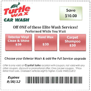 Elite Turtle Wax Car Wash Coupon