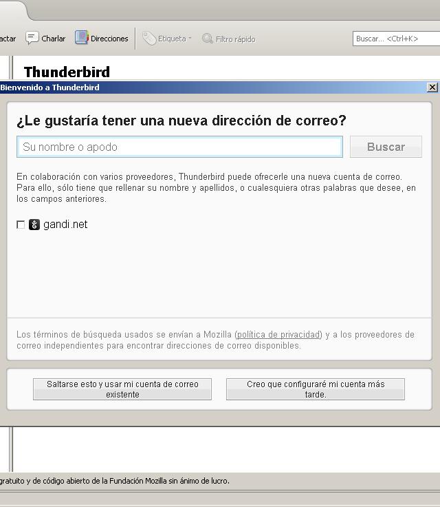 Configuración del cliente de correo Thunderbird Mozilla - Solo Nuevas