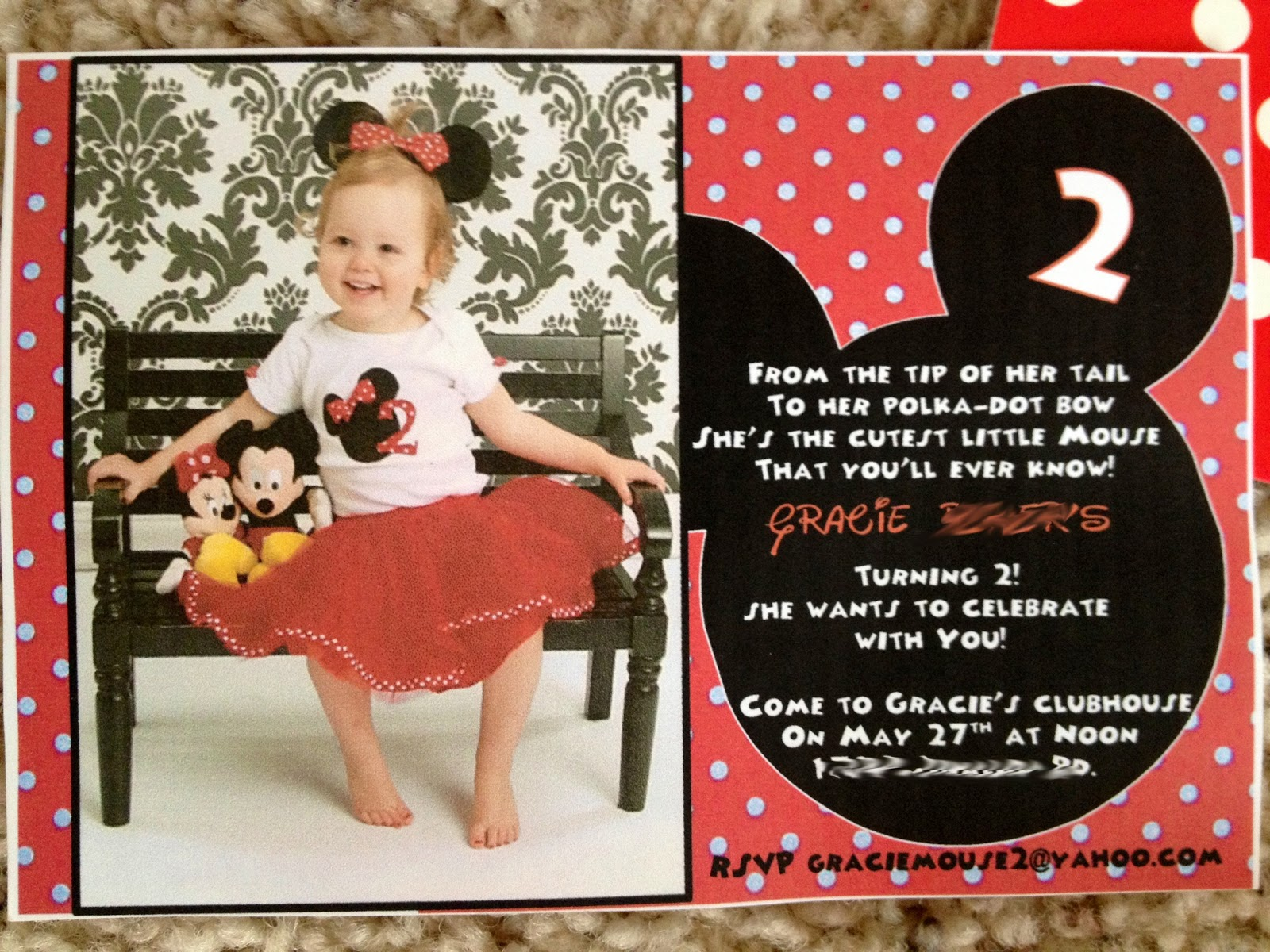 Colecting Grace Gracie S 2nd Minnie Mouse Birthday