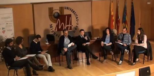 Los alumnos de la UMH entrevistaron a Albert Montagut en el marco de las VII Jornadas Internacionales de Periodismo