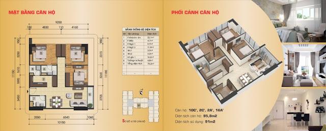 Thiết kế căn hộ 10C', 2C', 2A', 16A'