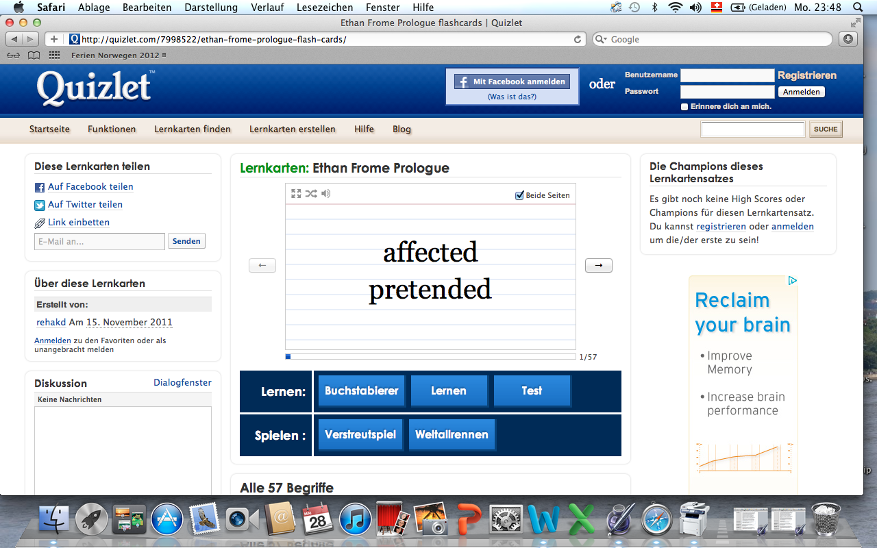 reading ethan frome vocabulary on quizlet monday 28 2012