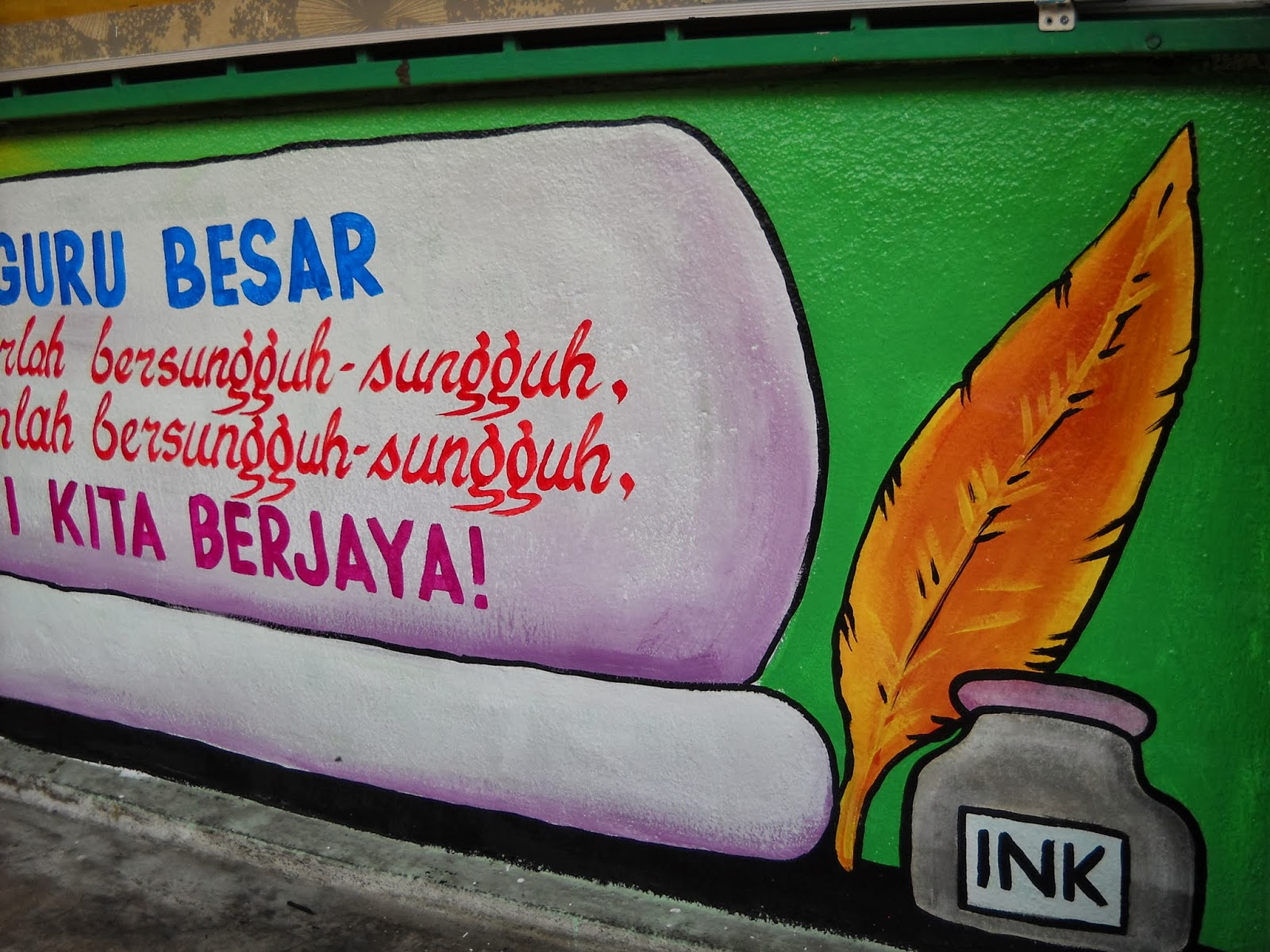 Pelukis mural shah alam mural pusat sumber sekolah for Mural sekolah rendah