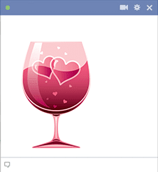 Hearts in a wine glass