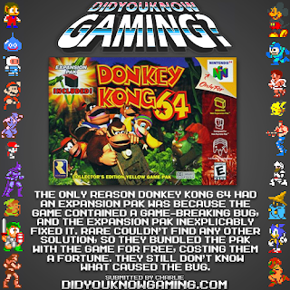 donkey kong 64 fact Random Game Facts   Why Does Donkey Kong 64 Have An Expansion Pak?