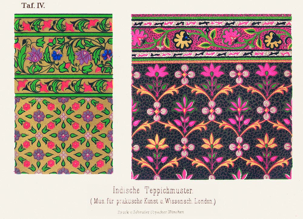Semper el estilo textiles aspectos formales la cobertura for Alfombras de algodon indias