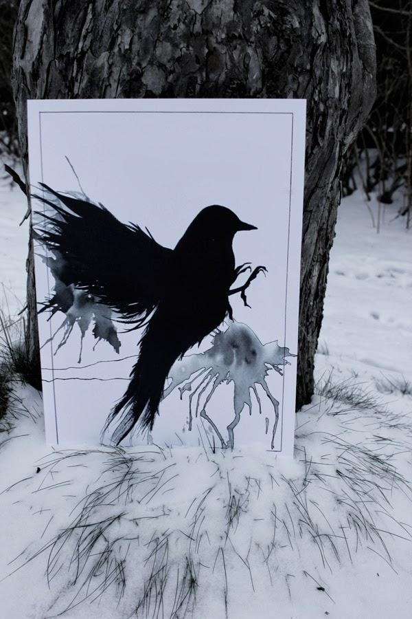 tävling, bloggtävling, illustration, artprint, konsttryck, design canvas varberg, print, tävlingar, tävla om en tavla, svart fågel,