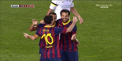 Joan Gamper : Barcelona 8 vs 0 Santos 02-08-2013