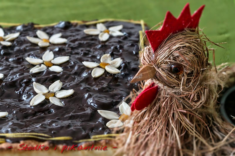 Mazurek czekoladowy z daktylami