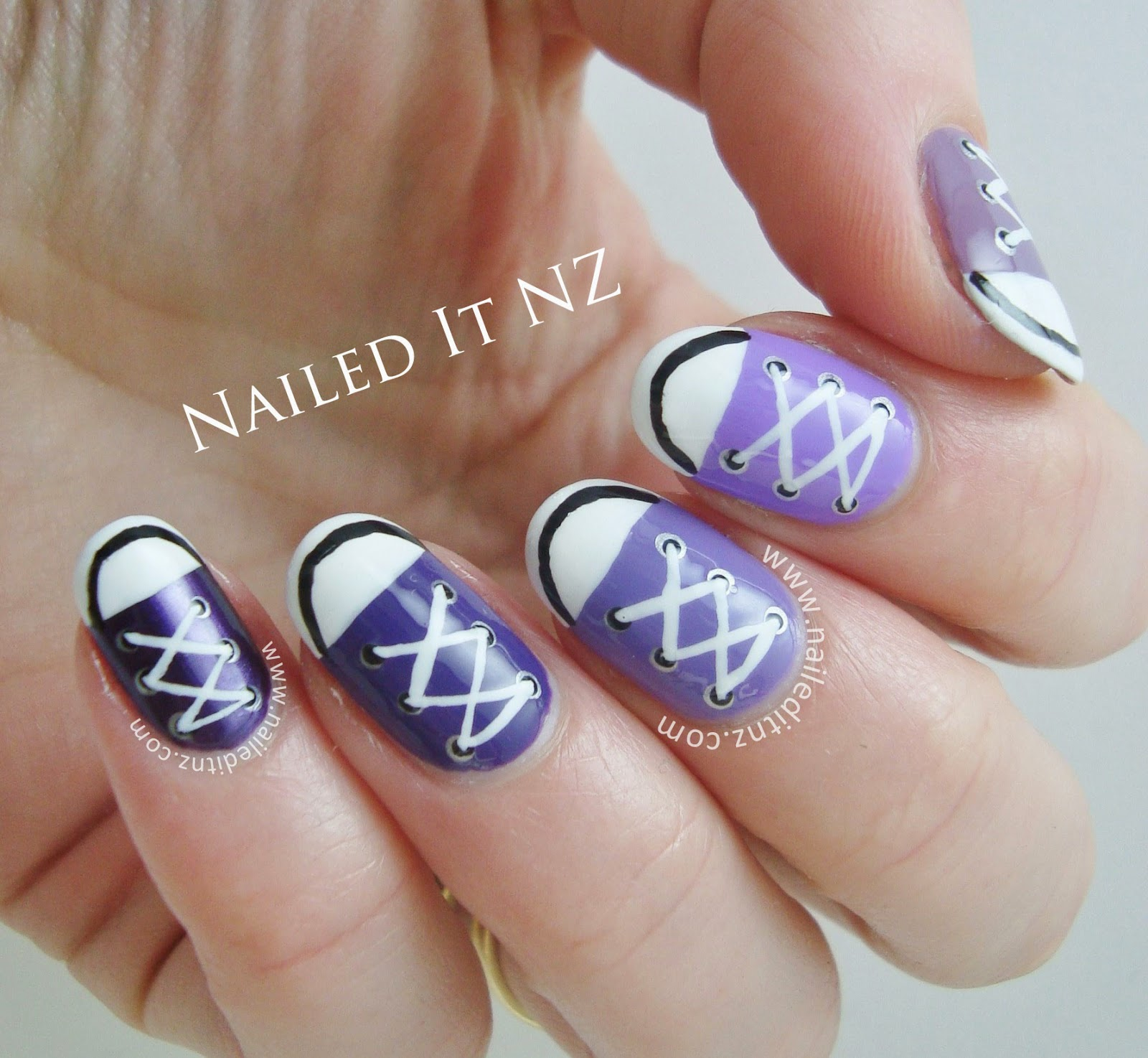 Converse nail art tutorial nailed it nz on youtube prinsesfo Images