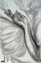 étude la main de l'ange AA