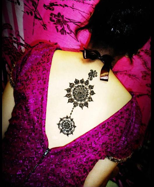 Mehndi Bridal Back Side : Beautiful latest simple arabic pakistani indian bridal