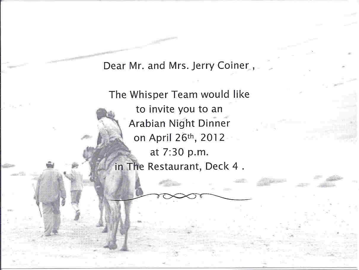 Invitations To Dinner is best invitations sample