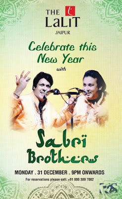 New Year's Eve 2013 with Sabri Brothers in Jaipur