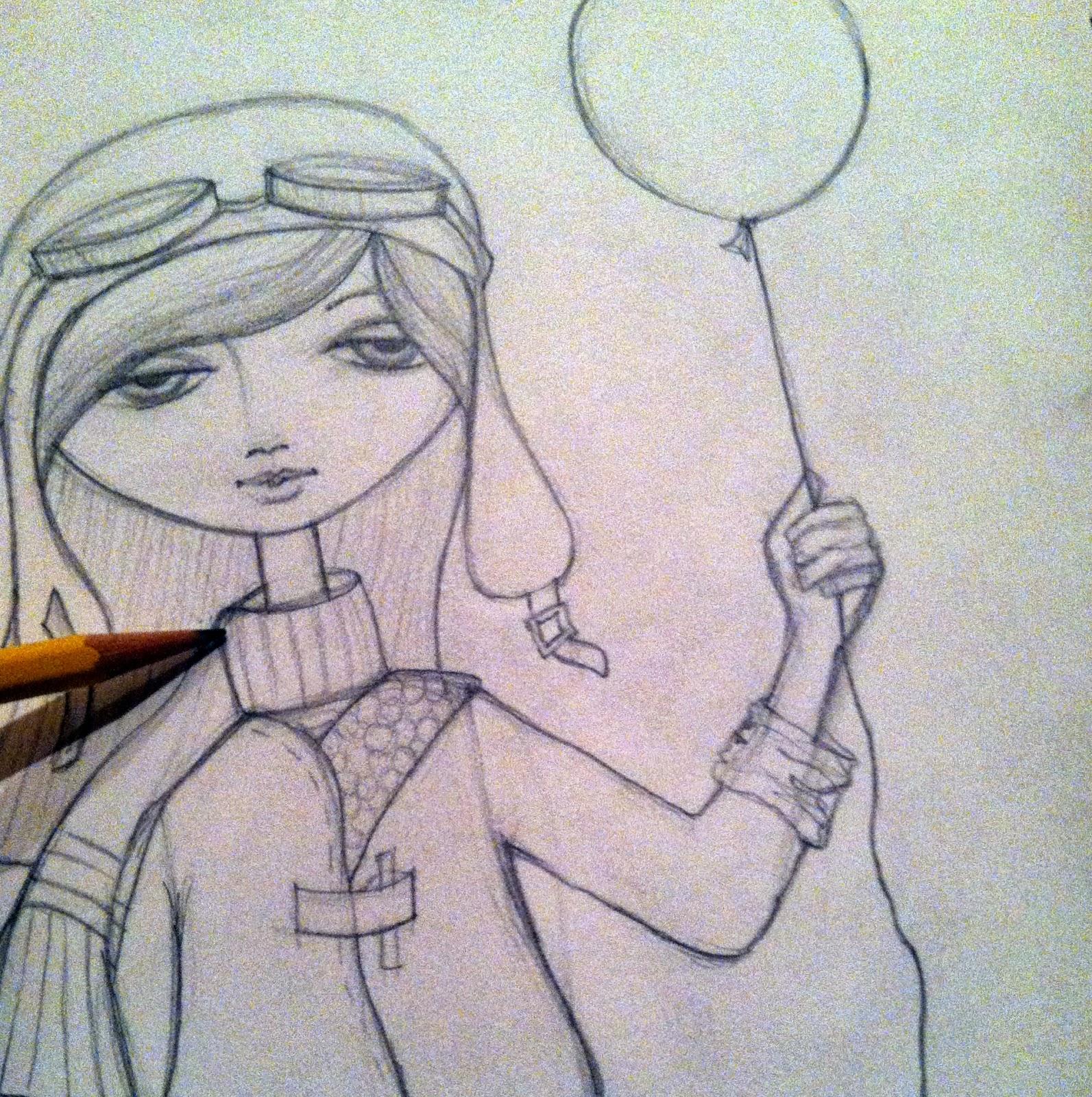 aviator with balloon art