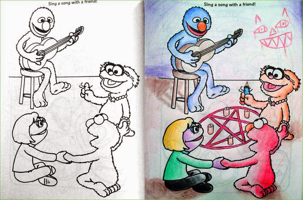 Breathtaking And Inappropriate When Coloring Books Get Into The