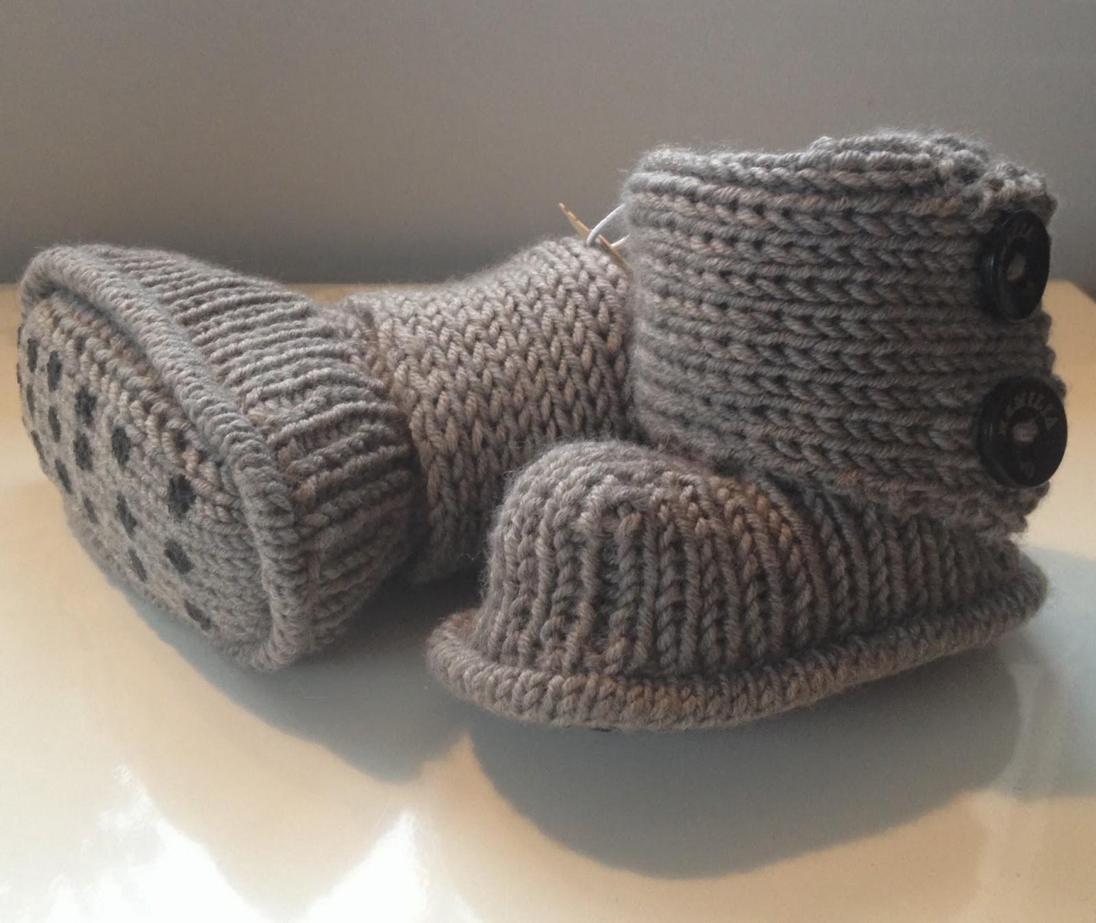 strikket uggs til baby