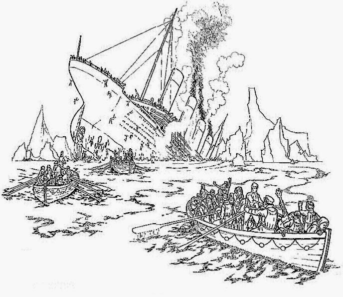 Titanic Wreck Pages Coloring Pages