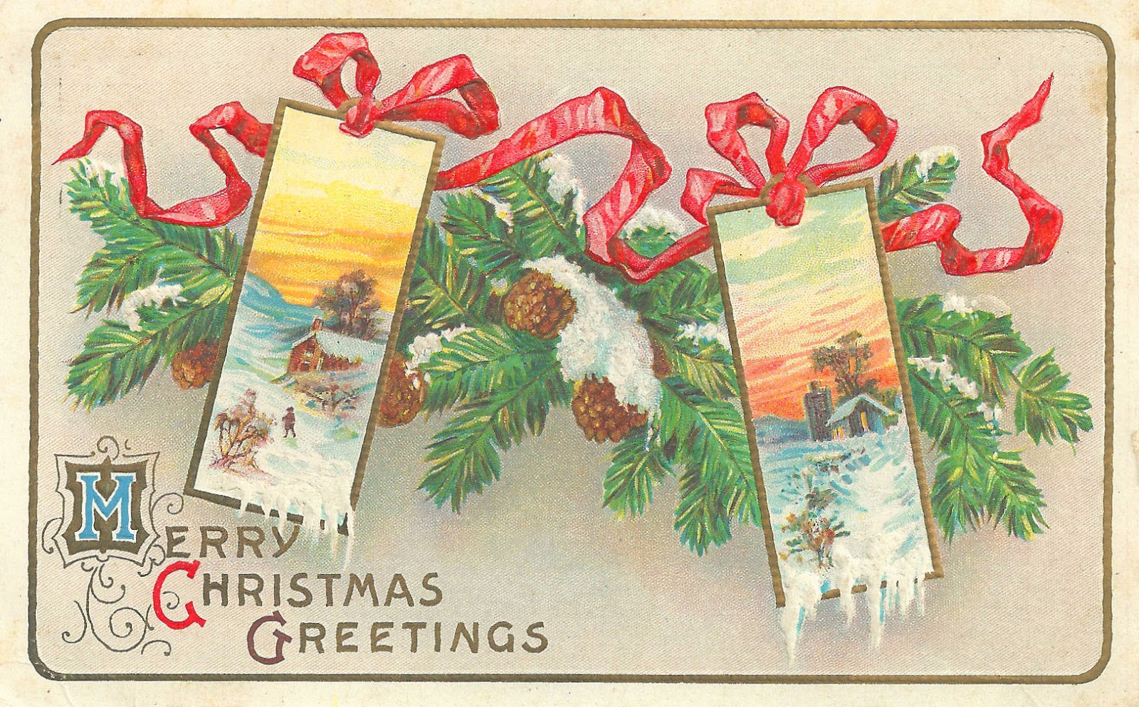 Free printable vintage christmas cards - 421 Best Christmas Postcards Horizontal Images On Pinterest Christmas Postcards Vintage Christmas And Christmas Art
