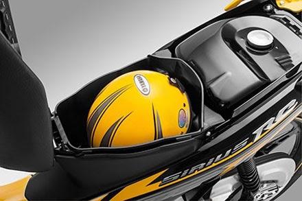Cốp xe Sirius 2014 - Được thiết kế để vừa mũ bảo hiểm