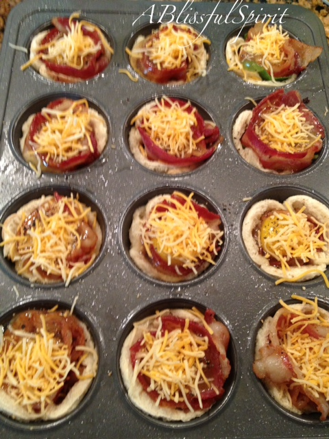Added the raw egg, salt, pepper and cheese....ready for the oven.